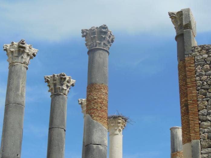 antike Säulen, Volubilis, Marokko