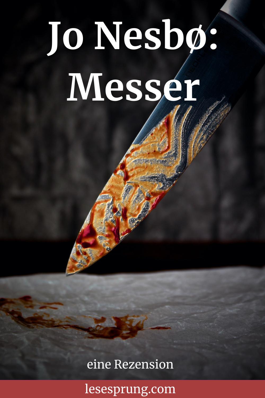 Pin Messer mit Blut