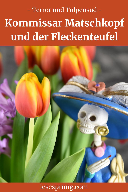 Pin Catrina mit Tulpen